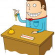 Stock Photo: Happy receptionist