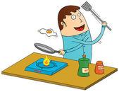 Omelet maken — Stockfoto