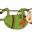 Stock Photo: Hanging scout