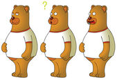 Bears with expressions — Stock Photo