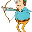 Stock Photo: Archery man