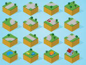 Pre assembly isometric map-road — Stock Photo