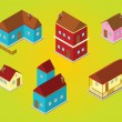 Isometric houses — Stock Photo