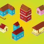 Isometric houses — Stock Photo