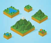 Pre assembly isometric map-mountain — Stock Photo