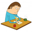 Stock Photo: Writing letter