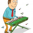 Playing organ — Stock Photo #37659161