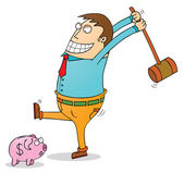 Pig bank robbery — Stock Photo