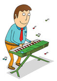 Playing organ — Stock Photo