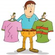 Choosing clothes — Stock Vector