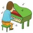 Pianist — Stock Vector #38705517