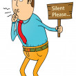 Silent please — Stock Vector #38705655
