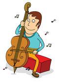 Cello player — Stock Vector