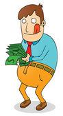 Satisfying salary — Stock Vector