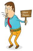 Silent please — Stock Vector