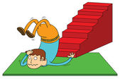 Stair accident — Stock Vector