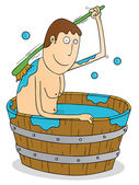 Traditional bath tube — Stockvector