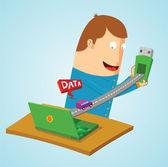 Transferring data — Stock Vector
