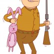 Vector de stock : Rabbit hunter