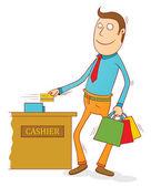 Credit card user — Stock Vector
