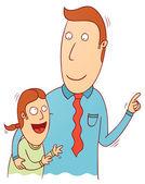 Padre e hija — Vector de stock
