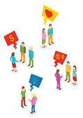 Isometric People collection — Stock Vector