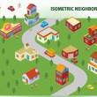 Stock Vector: Isometric Neighborhood