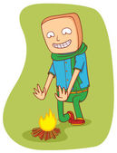 Warming campfire — Stock Vector