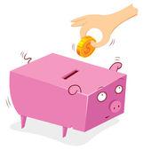Dass man geld in einer bank schwein — Stockvektor