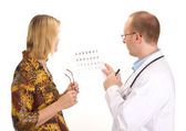 Patient by an ophthalmologist — Stock Photo