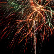 Firework on lake — Stock Photo