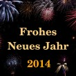 Frohes Neues Jahr 2014 (deutsch/german) — Stock Photo