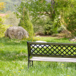 Royalty-Free Stock Photo: Lonely bench standing in a park