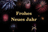 Frohes Neues Jahr (deutsch/german) — Foto Stock