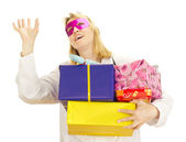 Party doctor with some gifts — Stock Photo