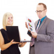 Two business analysing some facts — Stock Photo #13422700