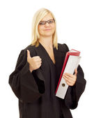 Lawyer ready for the next lawsuit — Stock Photo