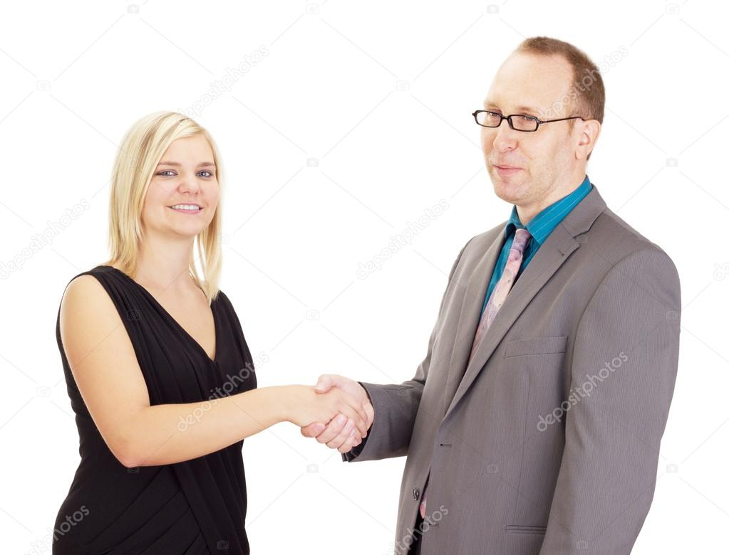 Handshake after a good interview — Stock Photo #13422706