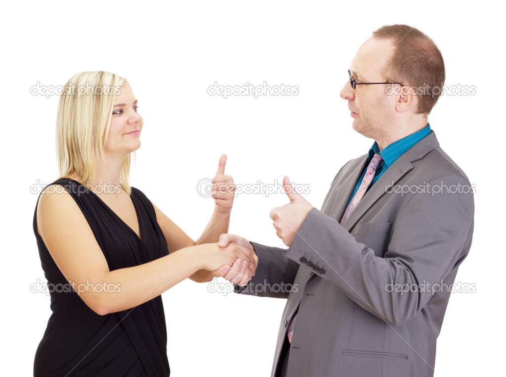 Handshake after a good interview  Stock Photo #13422711