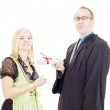 Conferment of a degree — Stock Photo