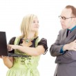 Business in the workplace — Stock Photo