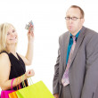 Two business on a shopping tour — Stock Photo