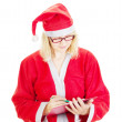 Santa claus with clipboard — Stock Photo