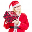 Gift giving on christmas eve — Stock Photo