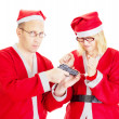 Santa claus handcuffed — Stock Photo