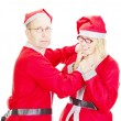 Two santas arguing — Stock Photo #13782625