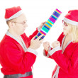 Two santas arguing — Stock Photo #13782626