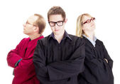 Three jurists — Stock Photo