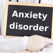 Doctor shows information: anxiety disorder — Stock Photo