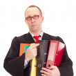 Royalty-Free Stock Photo: Lawyer with a lot of work
